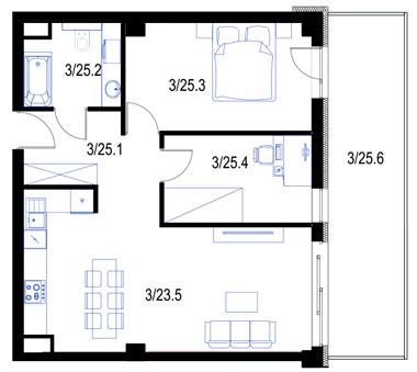 Mieszkanie25-pietro2-PrestigeAparts-Oswiecim