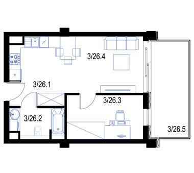 Mieszkanie26-pietro2-PrestigeAparts-Oswiecim