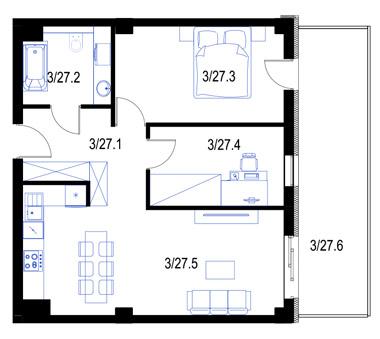 Mieszkanie27-pietro2-PrestigeAparts-Oswiecim