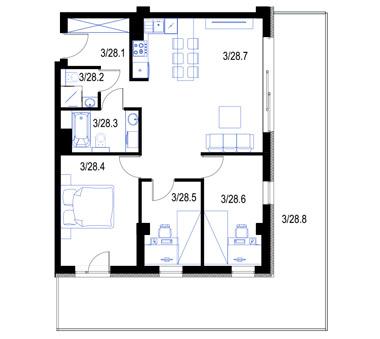 Mieszkanie28-pietro2-PrestigeAparts-Oswiecim