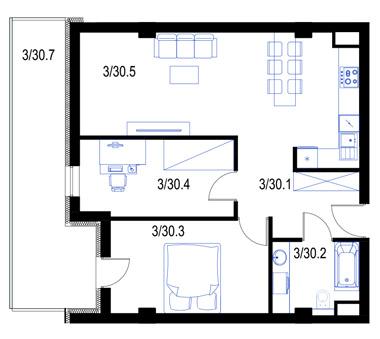 Mieszkanie30-pietro2-PrestigeAparts-Oswiecim