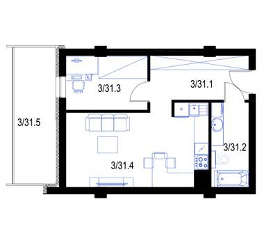 Mieszkanie31-pietro2-PrestigeAparts-Oswiecim