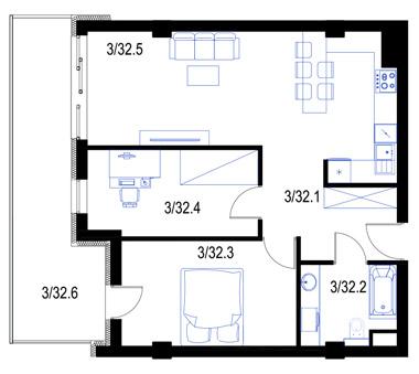 Mieszkanie32-pietro2-PrestigeAparts-Oswiecim