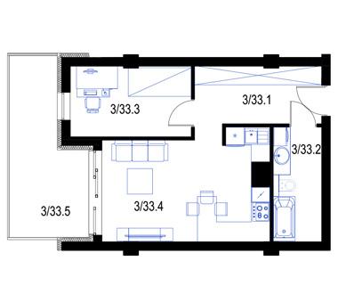 Mieszkanie33-pietro2-PrestigeAparts-Oswiecim