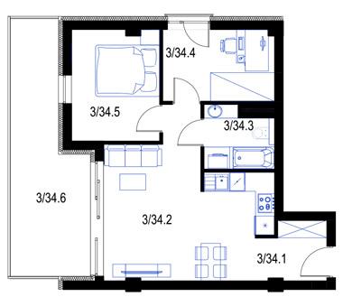 Mieszkanie34-pietro2-PrestigeAparts-Oswiecim