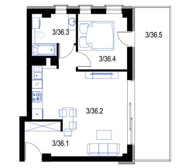 Mieszkanie36-pietro2-PrestigeAparts-Oswiecim