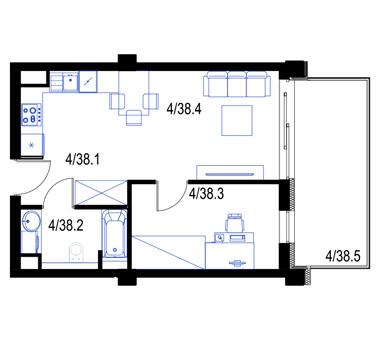 Mieszkanie38-pietro3-PrestigeAparts-Oswiecim