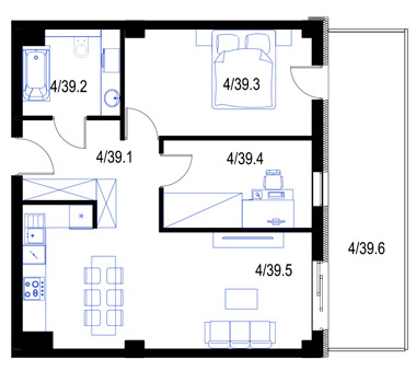 Mieszkanie39-pietro3-PrestigeAparts-Oswiecim