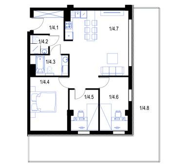 Mieszkanie4-parter-PrestigeAparts-Oswiecim