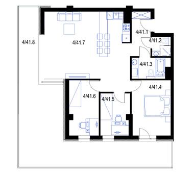 Mieszkanie41-pietro3-PrestigeAparts-Oswiecim