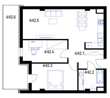 Mieszkanie42-pietro3-PrestigeAparts-Oswiecim