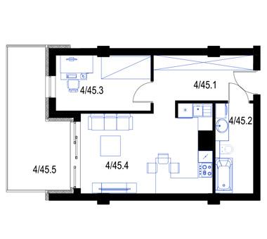 Mieszkanie45-pietro3-PrestigeAparts-Oswiecim