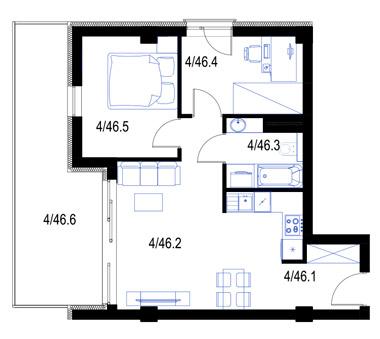 Mieszkanie46-pietro3-PrestigeAparts-Oswiecim