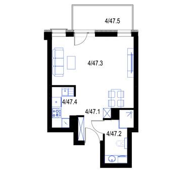 Mieszkanie47-pietro3-PrestigeAparts-Oswiecim