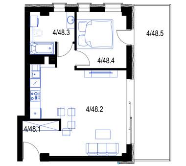 Mieszkanie48-pietro3-PrestigeAparts-Oswiecim