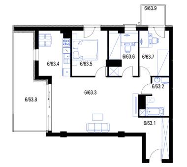 Mieszkanie63-pietro5-PrestigeAparts-Oswiecim