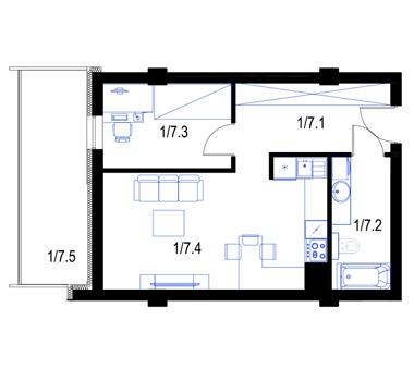 Mieszkanie7-parter-PrestigeAparts-Oswiecim
